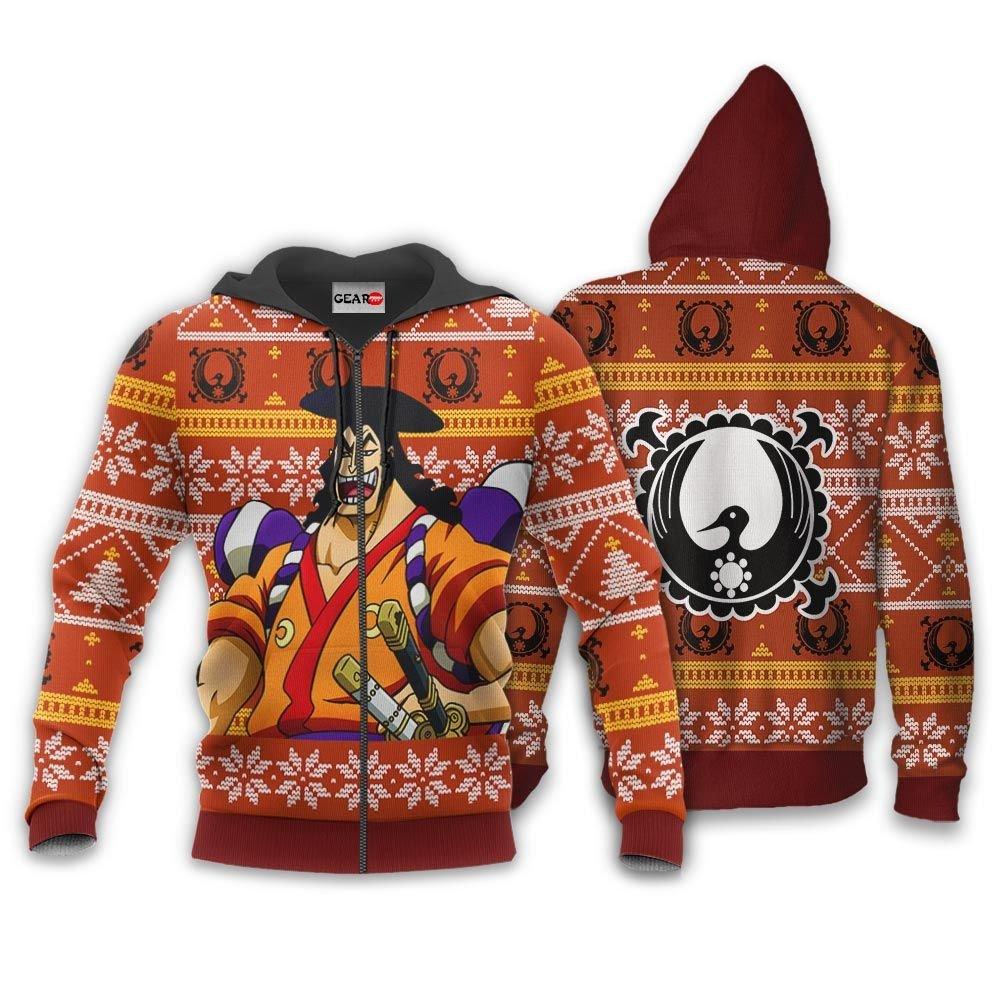 Kozuki Oden Ugly Christmas Sweater Custom One Piece Anime Xmas Gifts GO0110