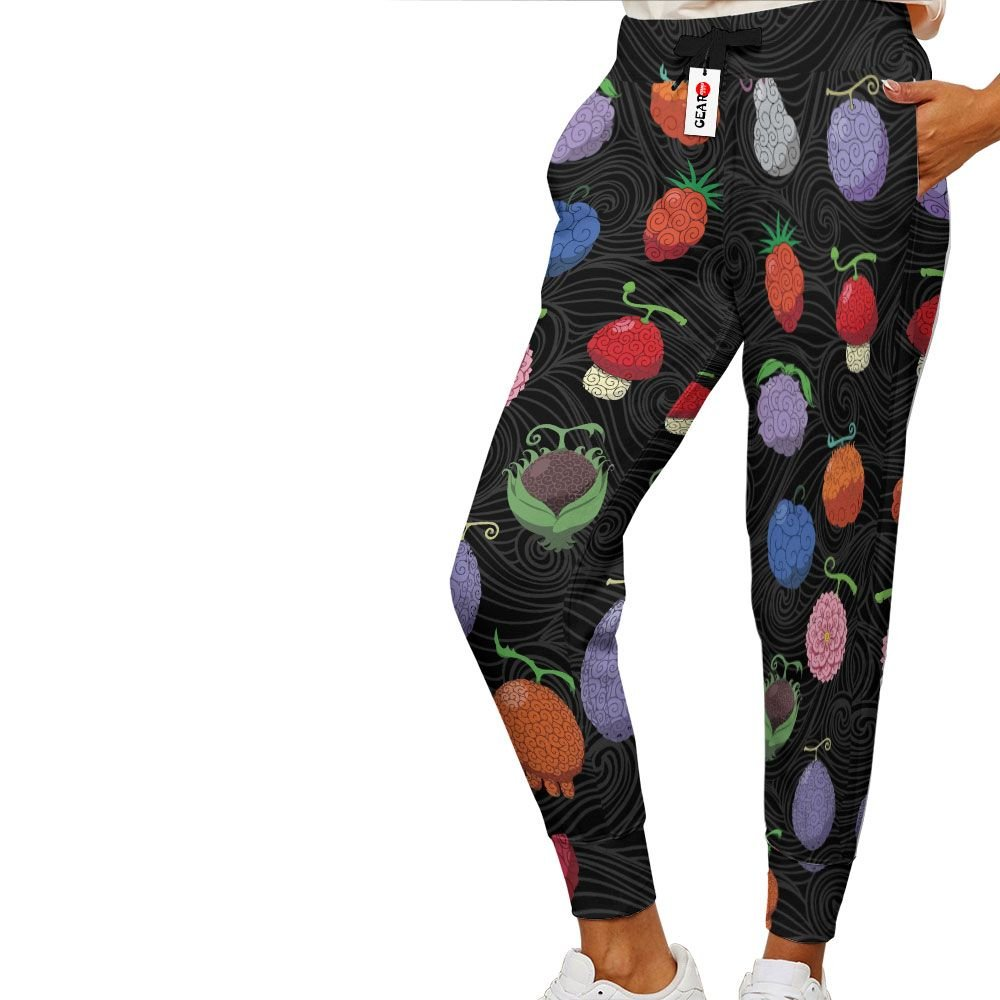Devil Fruits Joggers Custom Anime One Piece Sweatpants G01210
