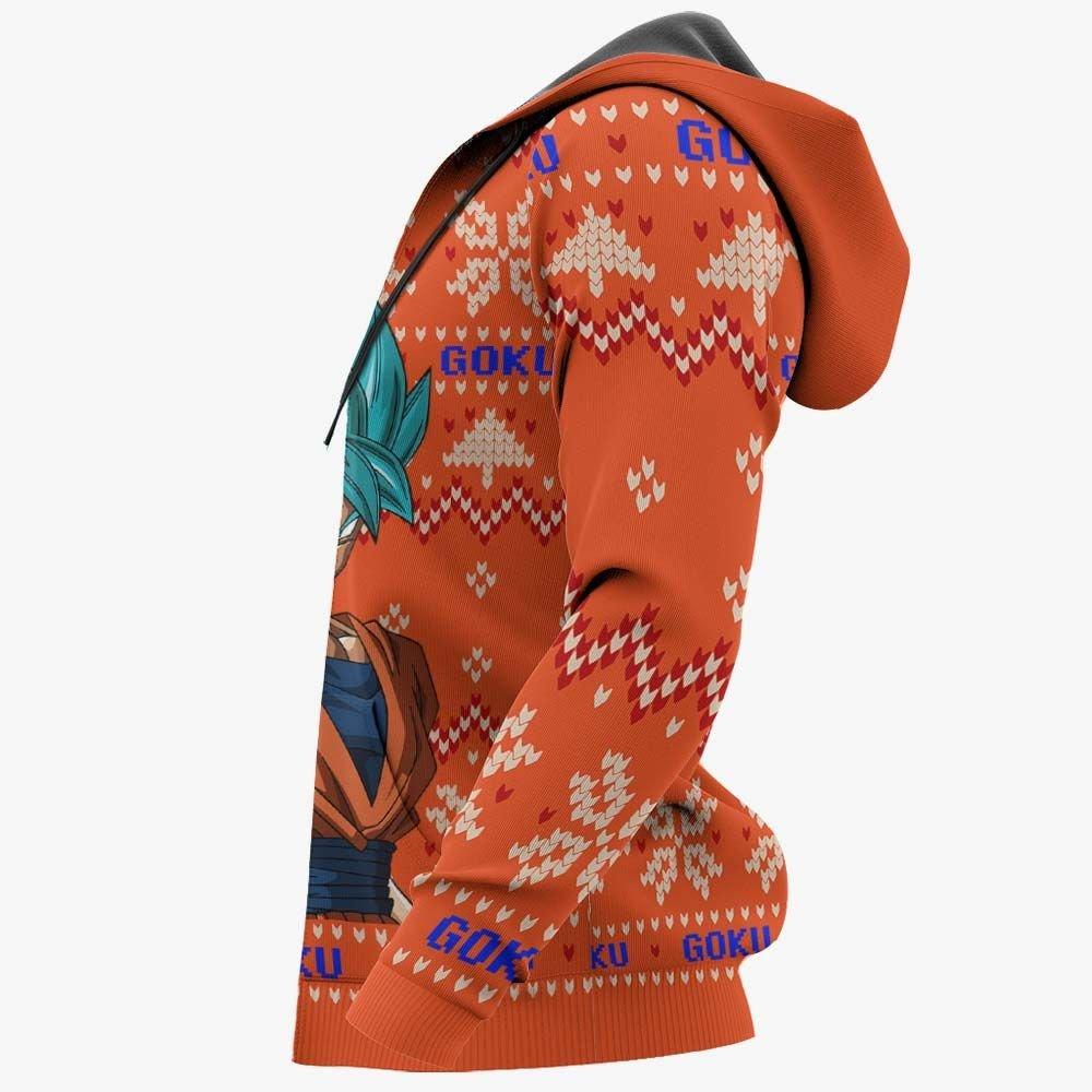 Goku Blue Ugly Christmas Sweater Custom Anime Dragon Ball Xmas Gifts GO0110