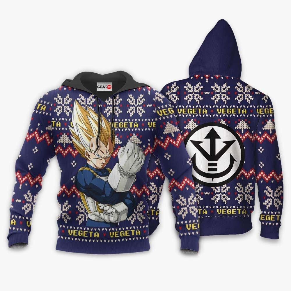 Vegeta Super Saiyan Christmas Sweater Custom Anime Dragon Ball Xmas Gifts GO0110