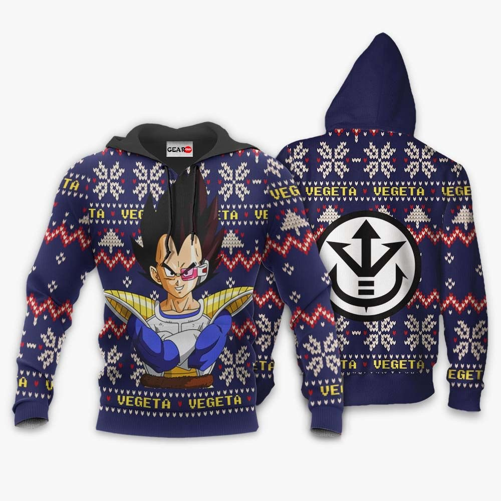 Prince Vegeta Christmas Sweater Custom Anime Dragon Ball Xmas Gifts GO0110