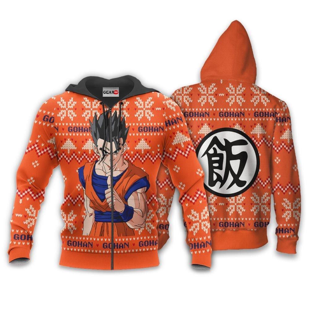 Gohan Christmas Sweater Custom Anime Dragon Ball Xmas Gifts GO0110