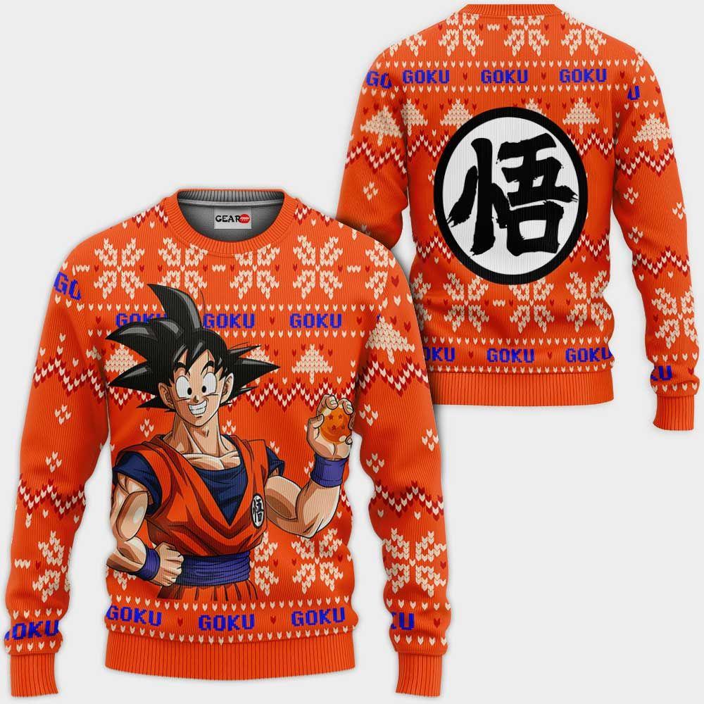 Goku Ugly Christmas Sweater Custom Anime Dragon Ball Xmas Gifts GO0110