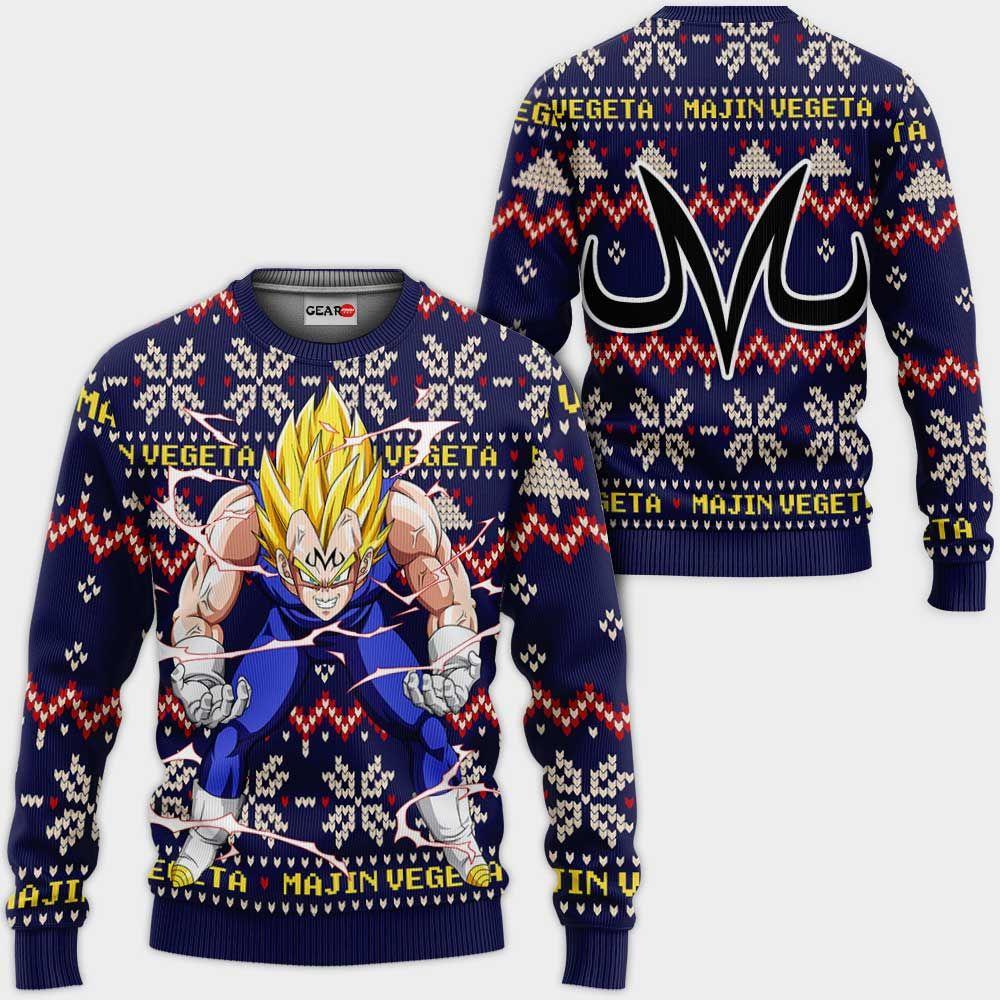 Majin Vegeta Christmas Sweater Custom Anime Dragon Ball Xmas Gifts GO0110