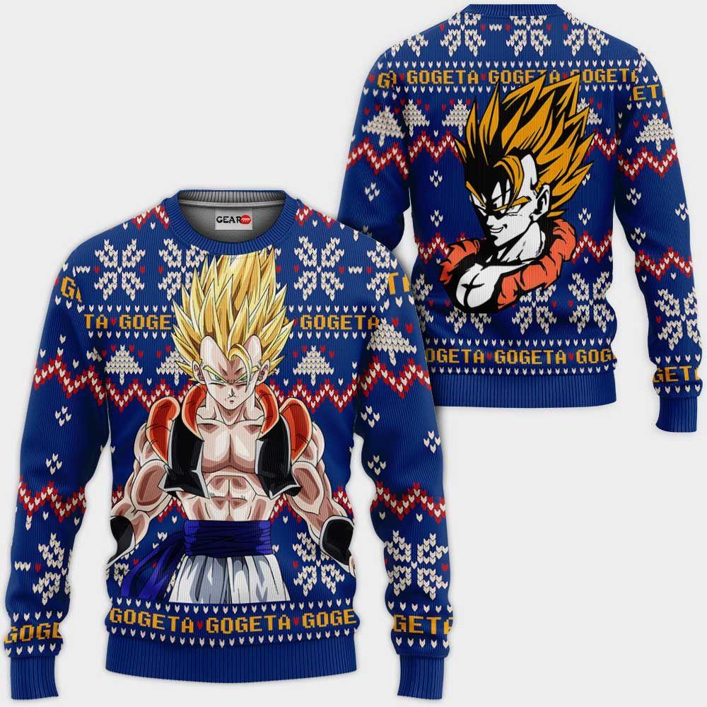 Gogeta Ugly Christmas Sweater Custom Anime Dragon Ball Xmas Gifts GO0110