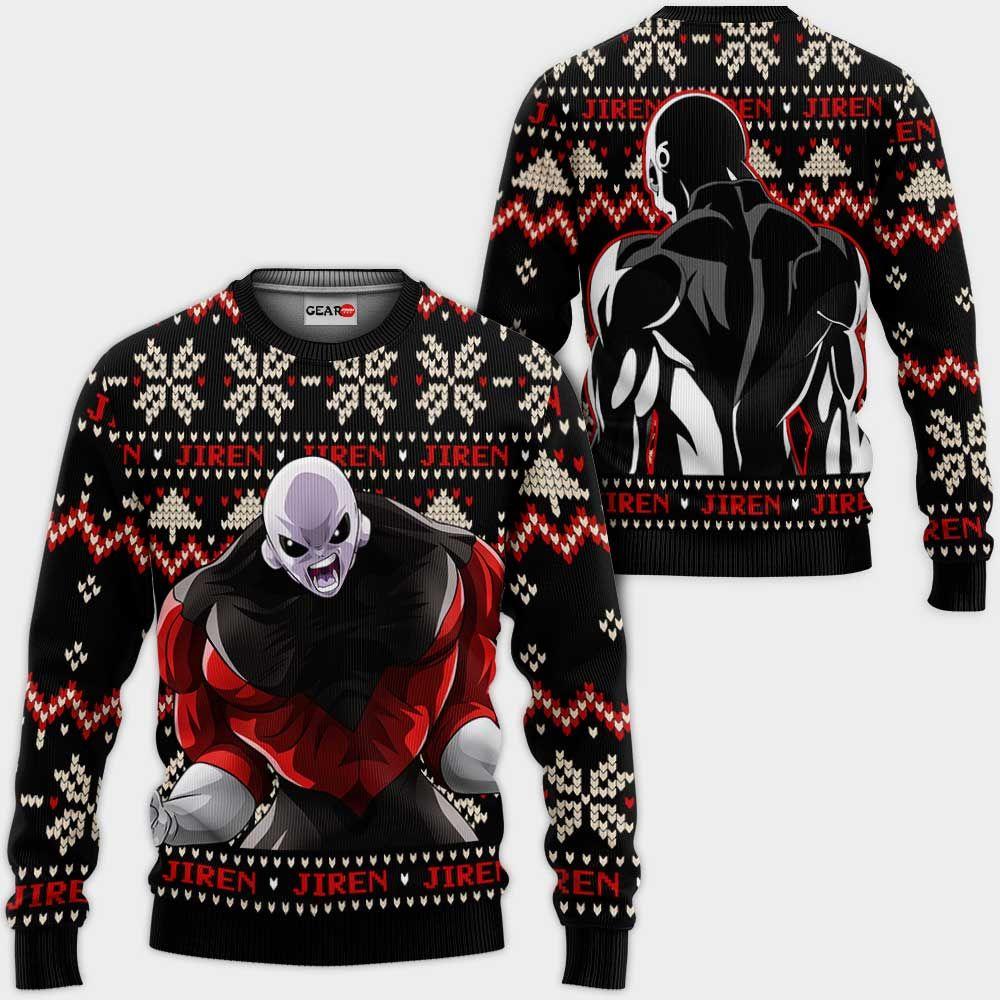 Jiren Ugly Christmas Sweater Custom Anime Dragon Ball Xmas Gifts GO0110