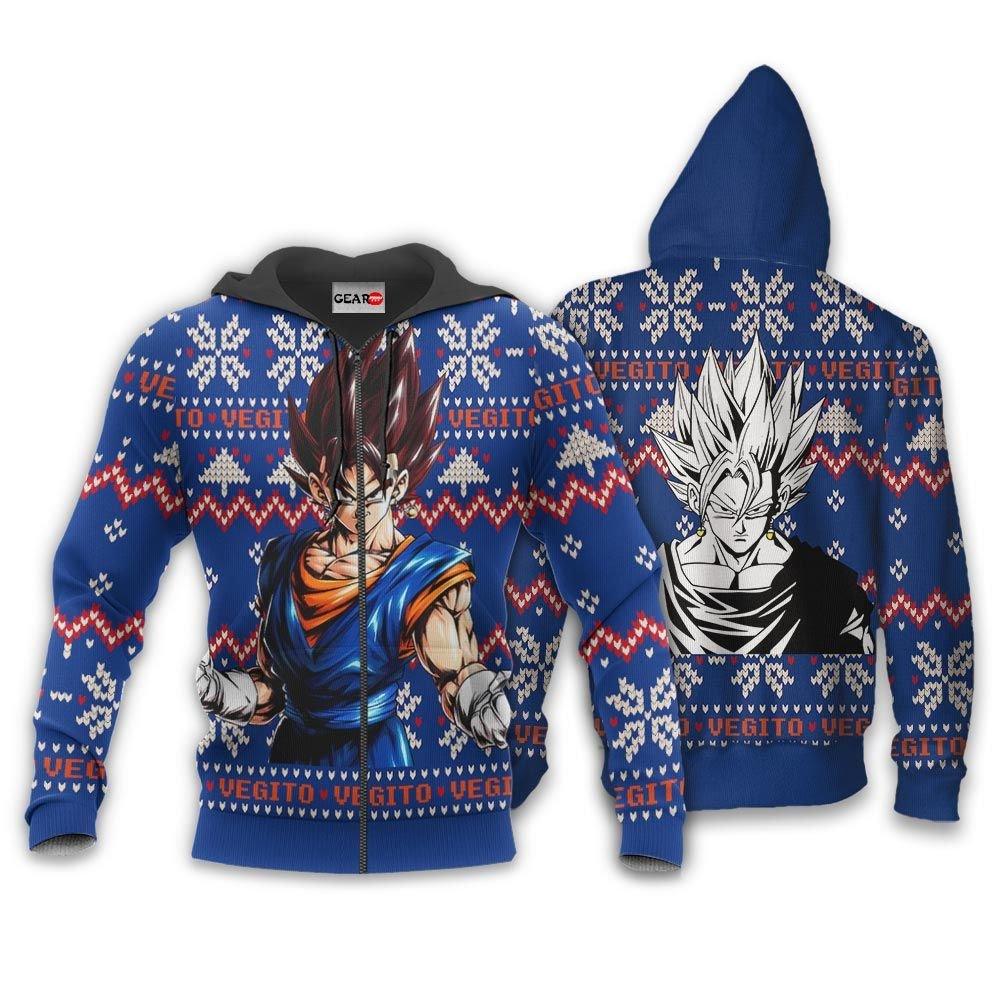 Vegito Ugly Christmas Sweater Custom Anime Dragon Ball Xmas Gifts GO0110