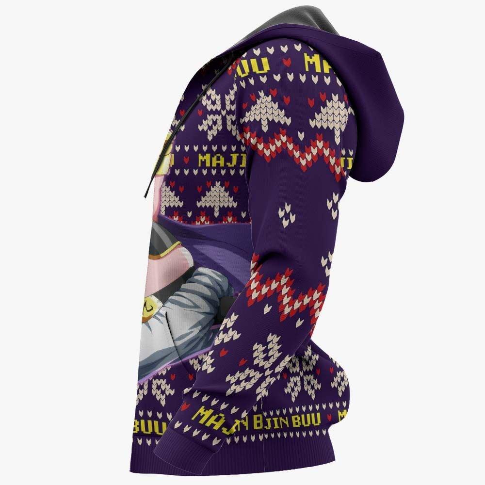 Majin Buu Fat Ugly Christmas Sweater Custom Anime Dragon Ball Xmas Gifts GO0110