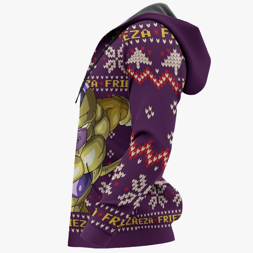 Golden Frieza Ugly Christmas Sweater Custom Anime Dragon Ball Xmas Gifts GO0110