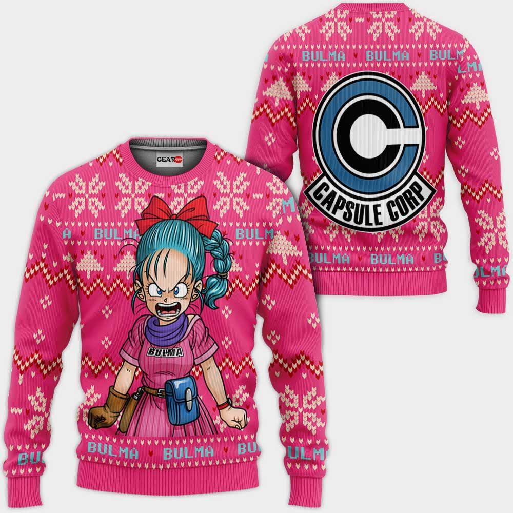 Bulma Ugly Christmas Sweater Custom Anime Dragon Ball Xmas Gifts GO0110