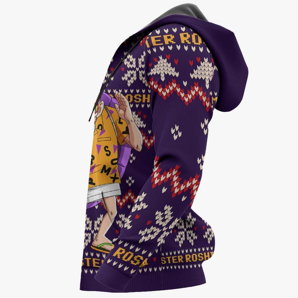 Master Roshi Ugly Christmas Sweater Custom Anime Dragon Ball Xmas Gifts GO0110