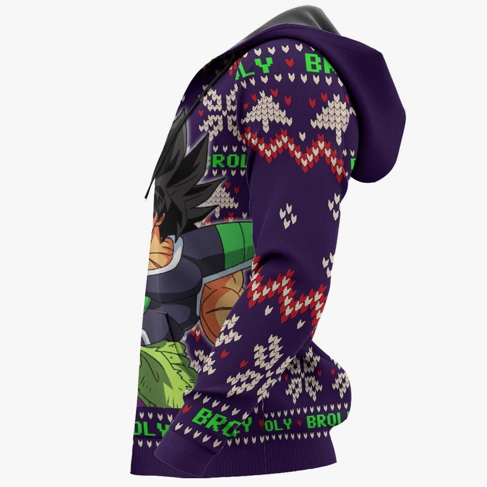 Broly Ugly Christmas Sweater Custom Anime Dragon Ball Xmas Gifts GO0110