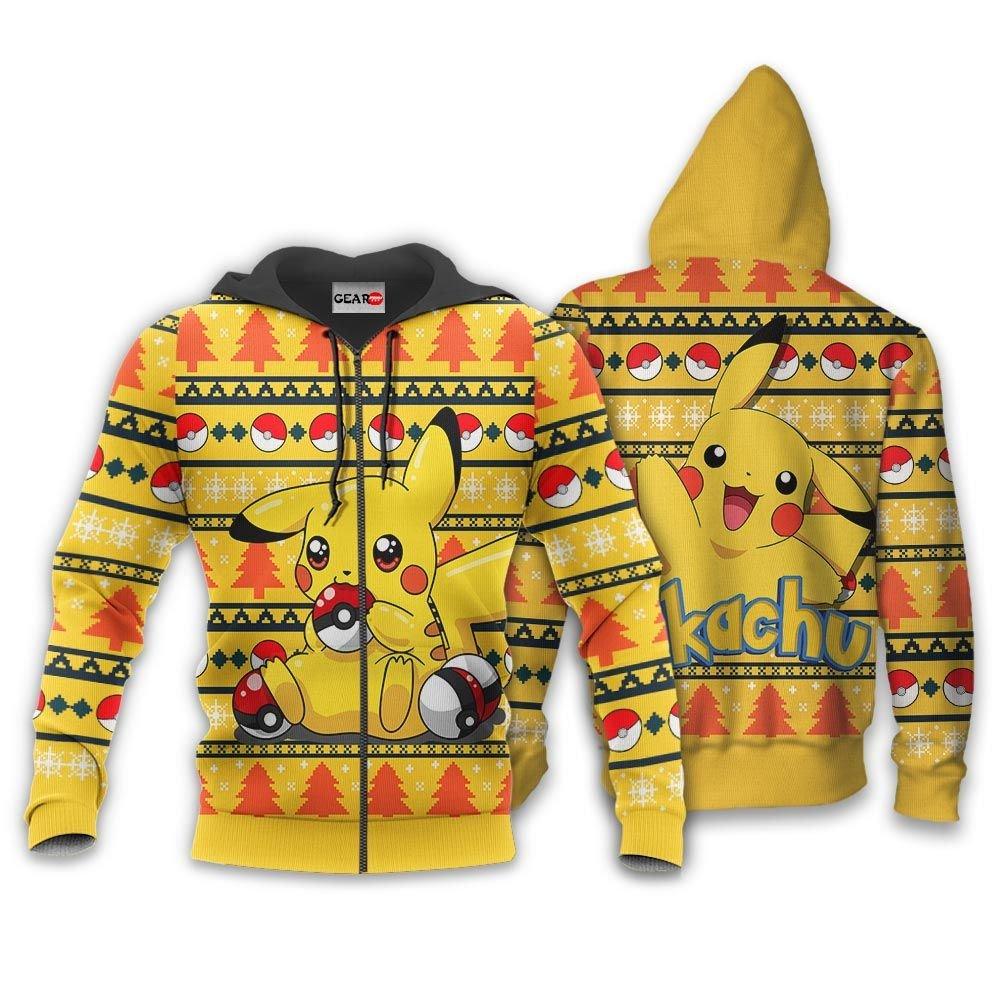 Pikachu Ugly Christmas Sweater Custom Anime Pokemon Xmas Gifts GO0110