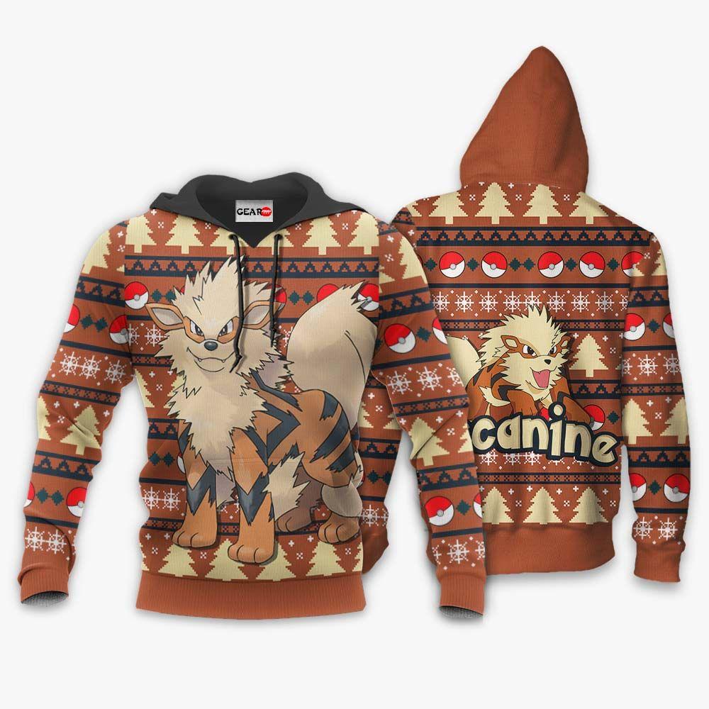 Arcanine Ugly Christmas Sweater Custom Anime Pokemon Xmas Gifts GO0110