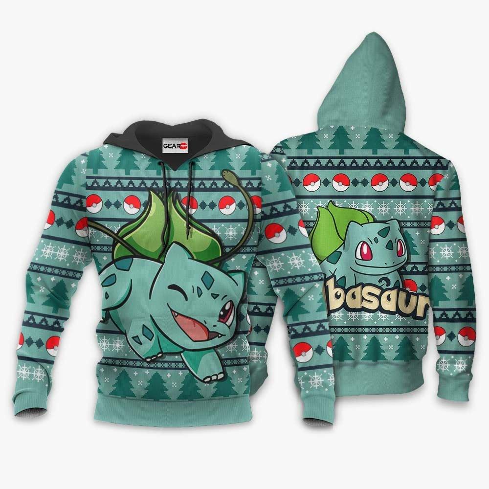 Bulbasaur Ugly Christmas Sweater Custom Anime Pokemon Xmas Gifts GO0110