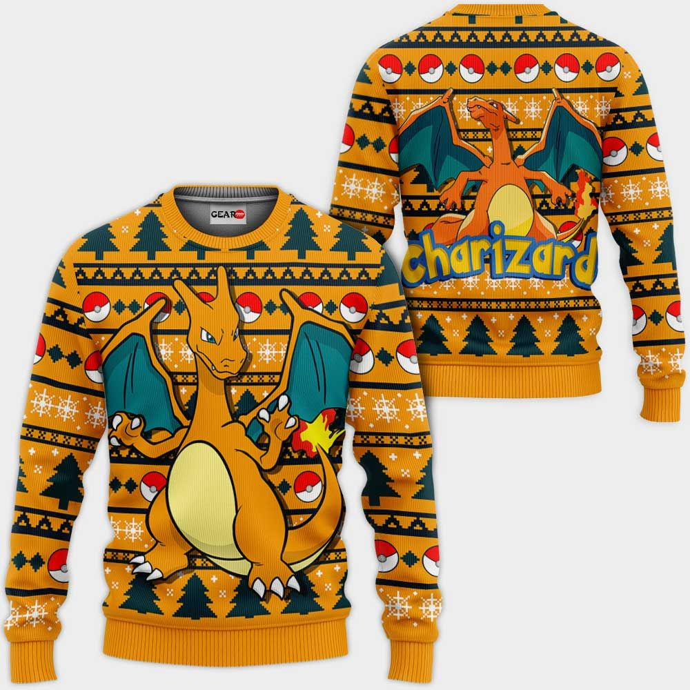 Charizard Ugly Christmas Sweater Custom Anime Pokemon Xmas Gifts GO0110