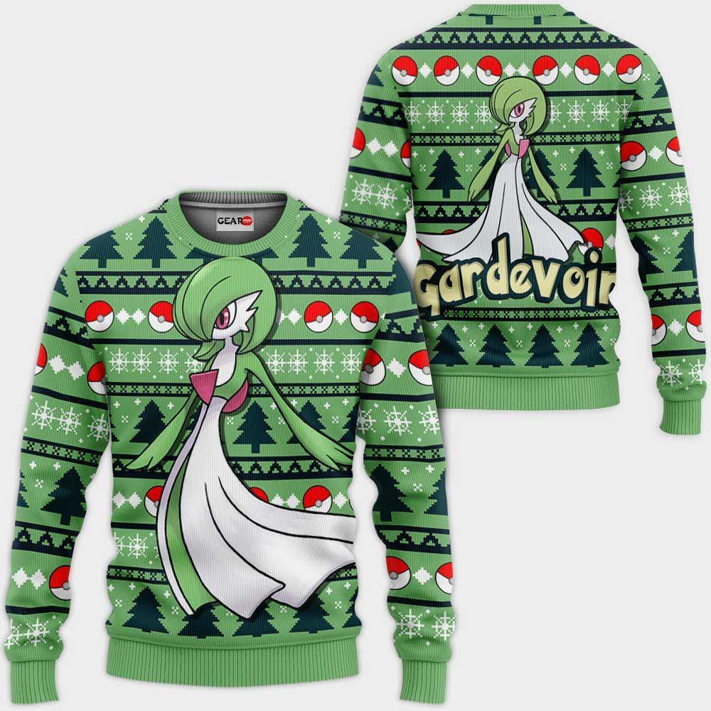 Gardevoir Ugly Christmas Sweater Custom Anime Pokemon Xmas Gifts GO0110