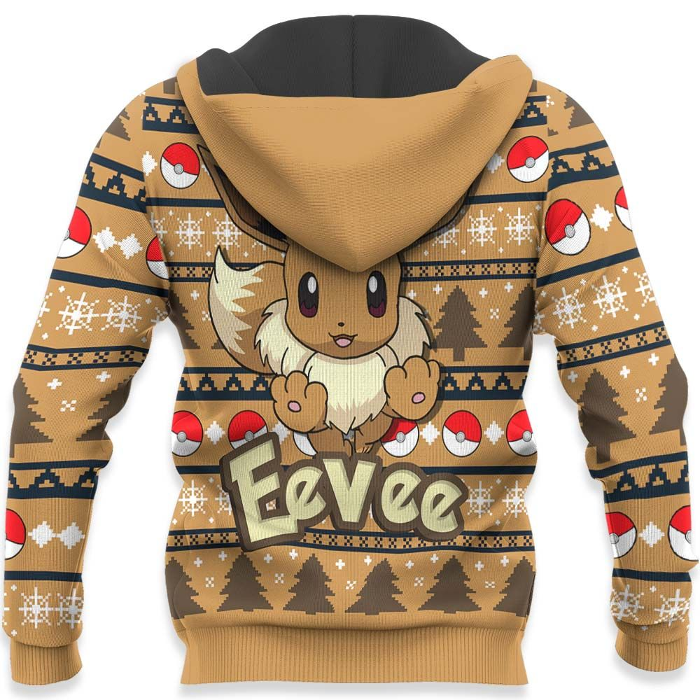 Eevee Ugly Christmas Sweater Custom Anime Pokemon Xmas Gifts GO0110