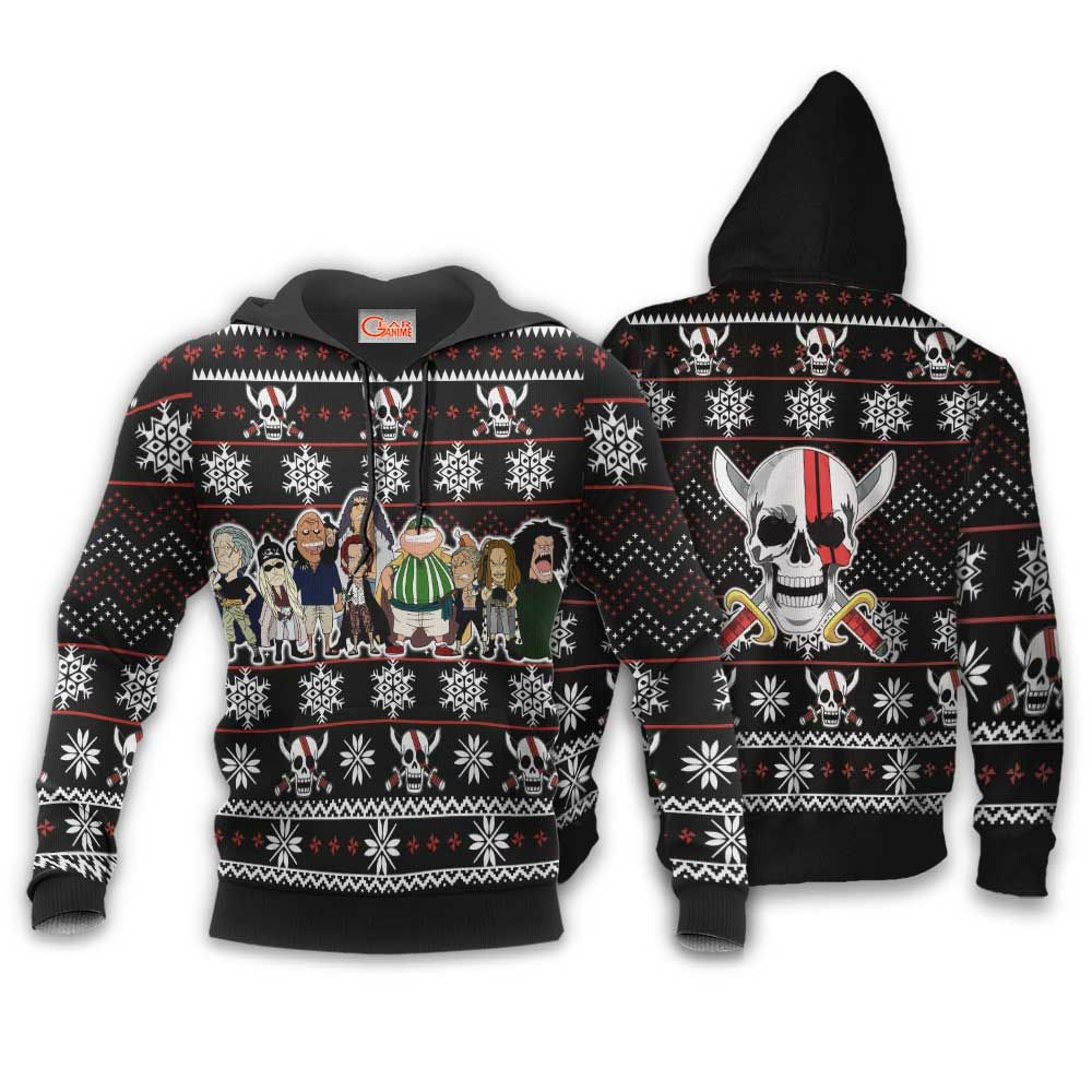 Red Hair Pirates Ugly Christmas Sweater Custom Anime One Piece Xmas Gifts GO0110