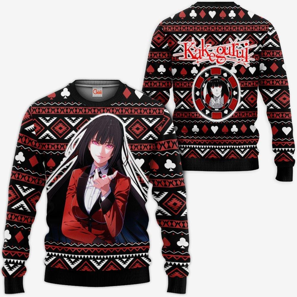 Yumeko Ugly Christmas Sweater Custom Anime Kakegurui Xmas Gifts GO0110