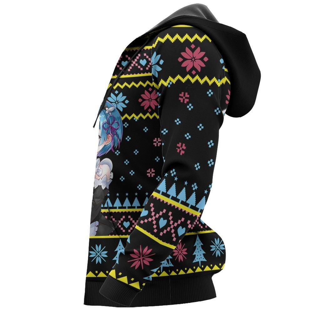 Re Zero Rem Ram Ugly Christmas Sweater Custom Anime Xmas Gifts GO0110