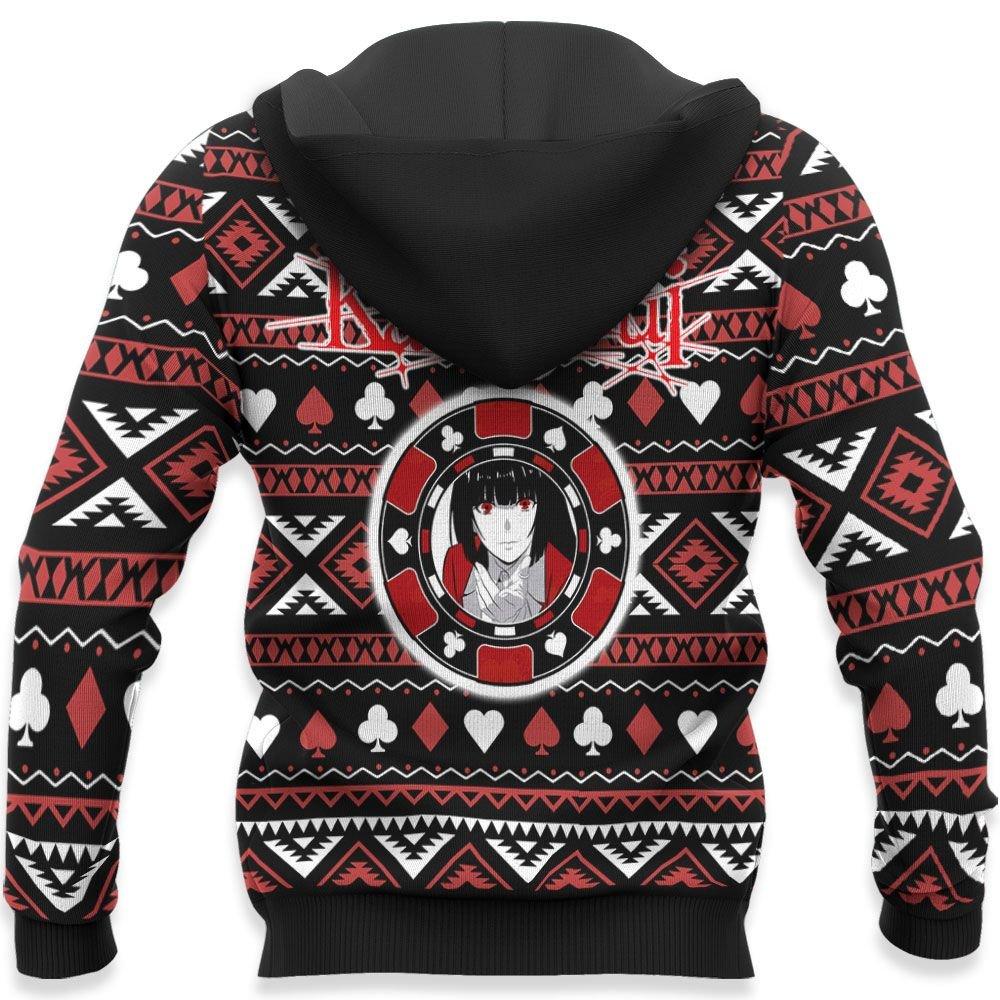 Yumeko Jabami Ugly Christmas Sweater Custom Anime Kakegurui Xmas Gifts GO0110