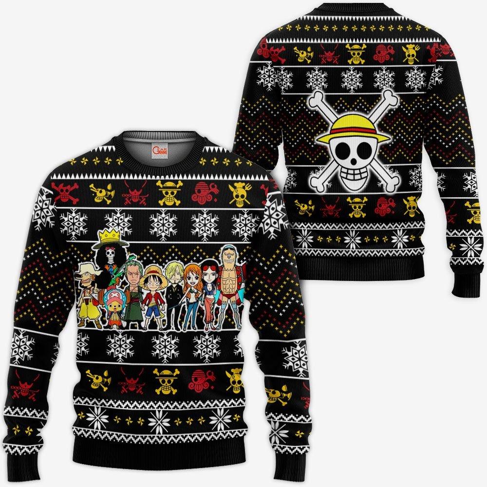 Straw Hat Pirates Ugly Christmas Sweater Custom Anime One Piece Xmas Gifts GO0110