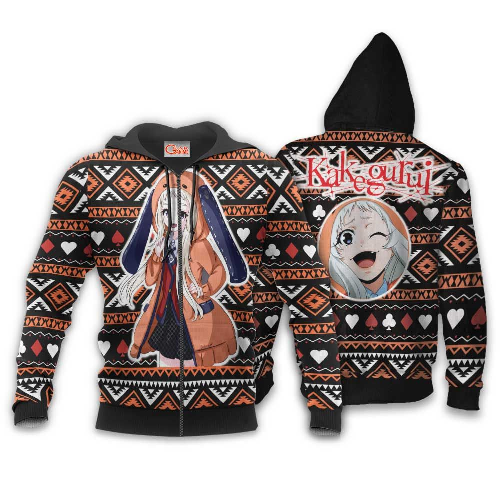 Runa Yomozuki Ugly Christmas Sweater Custom Anime Kakegurui Xmas Gifts GO0110