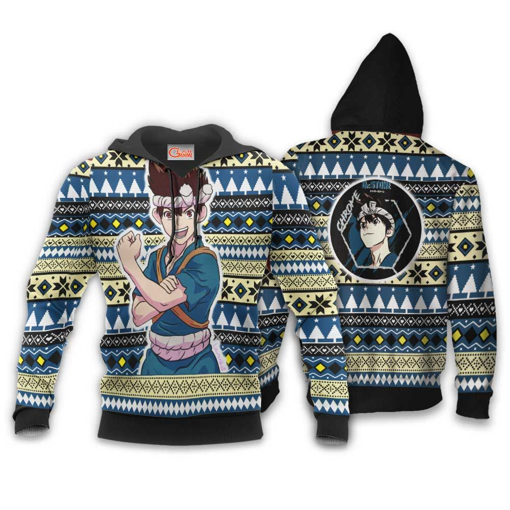 Kuromu Chrome Ugly Christmas Sweater Custom Anime Dr Stone Xmas Gifts GO0110