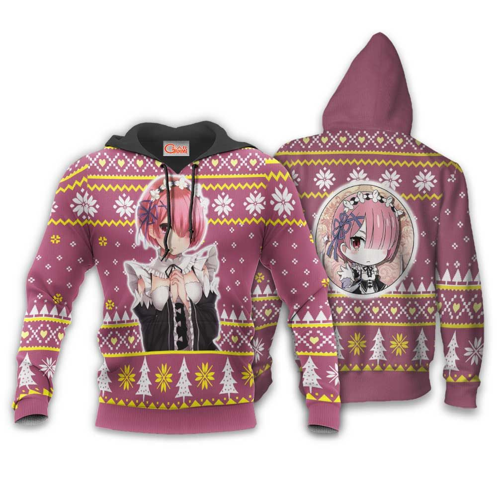 Re Zero Ram Ugly Christmas Sweater Custom Anime Xmas Gifts GO0110