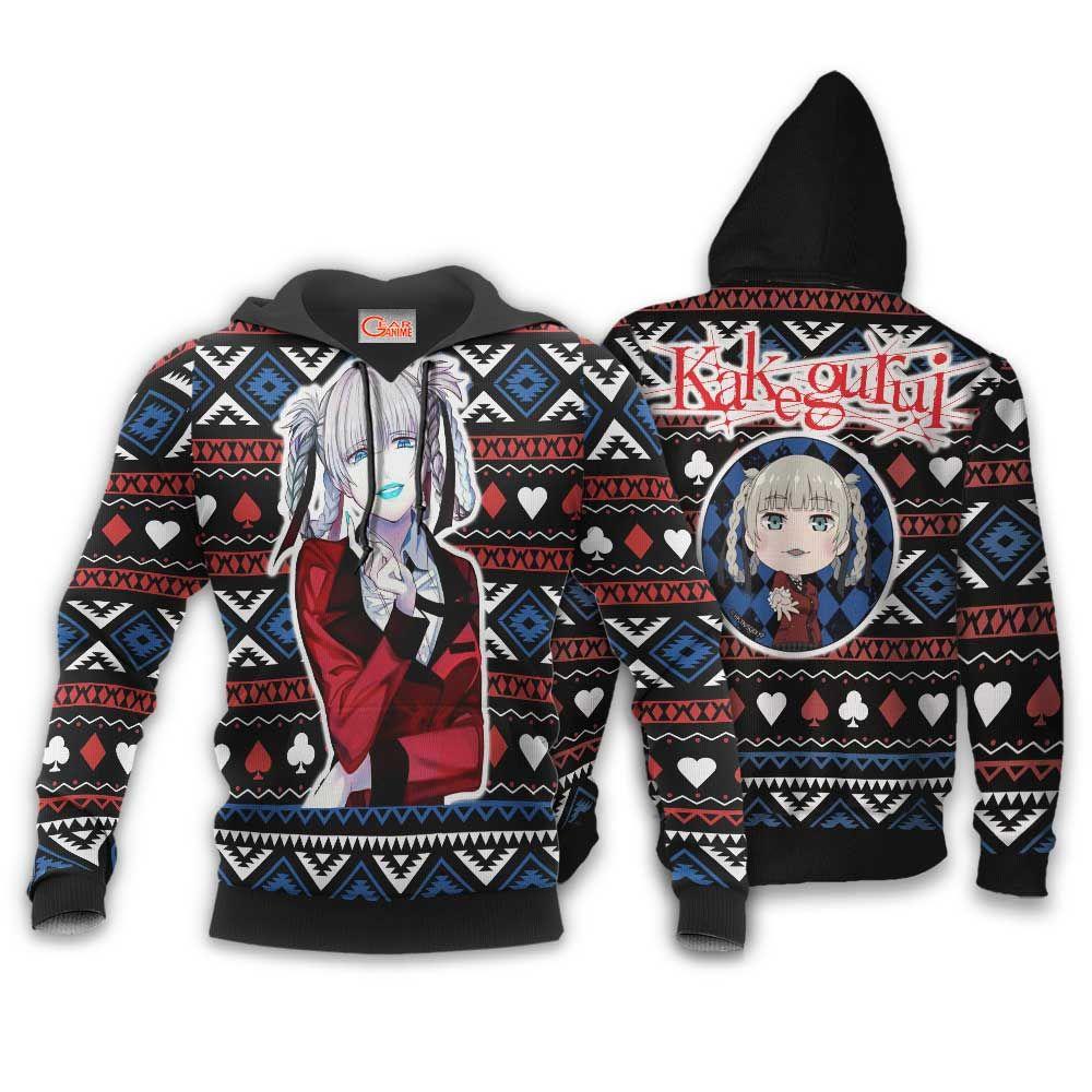 Kirari Momobami Ugly Christmas Sweater Custom Anime Kakegurui Xmas Gifts GO0110