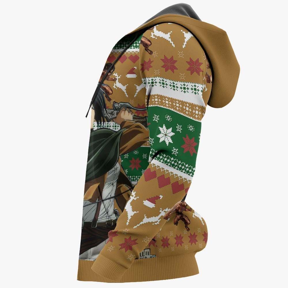 Mikasa Ackerman Ugly Christmas Sweater Custom Anime Attack On Titan Xmas Gifts GO0110