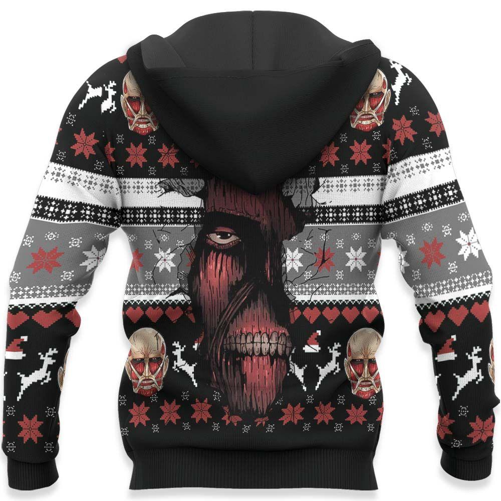 Giant Titan Ugly Christmas Sweater Custom Anime Attack On Titan Xmas Gifts GO0110