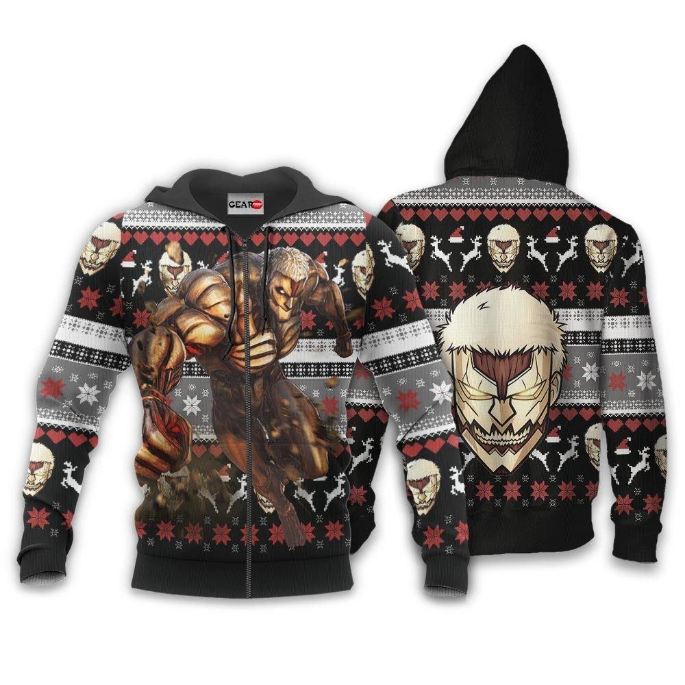 Armored Titan Ugly Christmas Sweater Custom Anime Attack On Titan Xmas Gifts GO0110