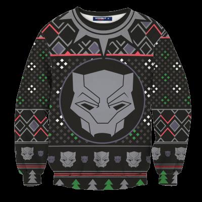 A Wakandan Christmas Unisex Wool Sweater FDM0310 S Official Otaku Treat Merch