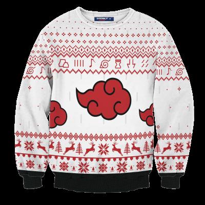 Akatsuki White Christmas Unisex Wool Sweater FDM0310 S Official Otaku Treat Merch