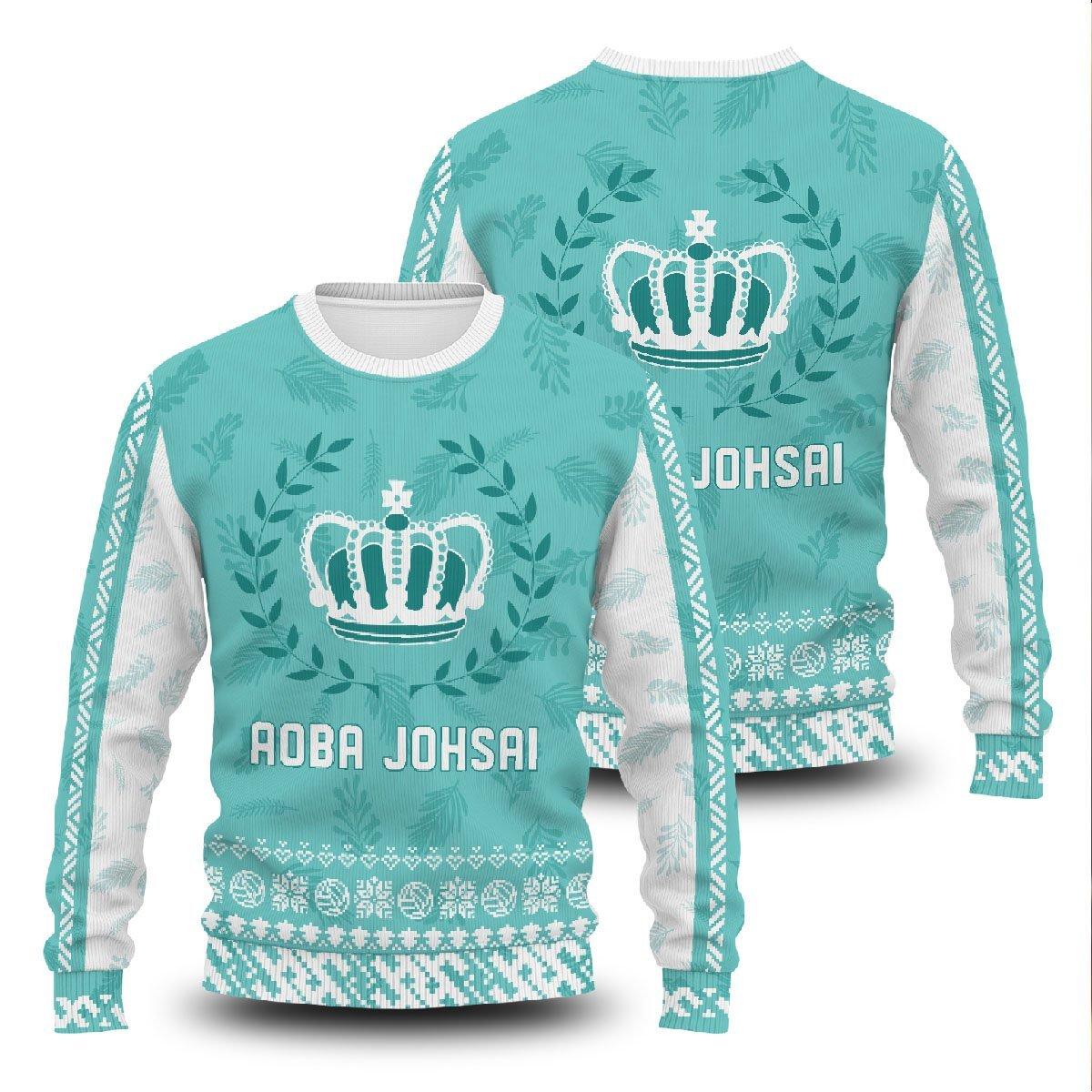 Aoba Johsai Jersey Christmas Unisex Wool Sweater FDM0310 S Official Otaku Treat Merch