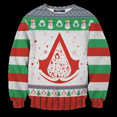Assassin's Creed Christmas Unisex Wool Sweater FDM0310 S Official Otaku Treat Merch