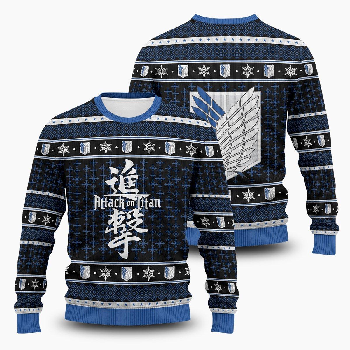 Attack on Titan Unisex Wool Sweater FDM0310 S Official Otaku Treat Merch