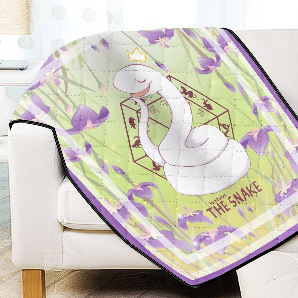 Ayame The Snake Quilt Blanket Official Merch FDM3009 Twin Official Otaku Treat Merch