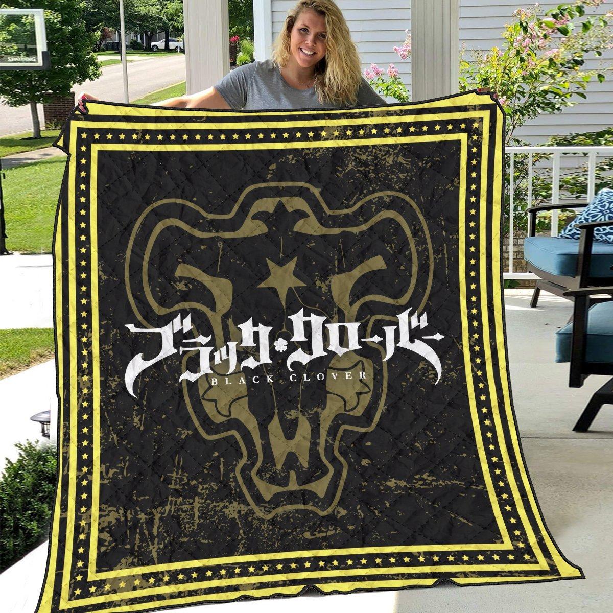 black clover bulls quilt blanket 190996 - Otaku Treat