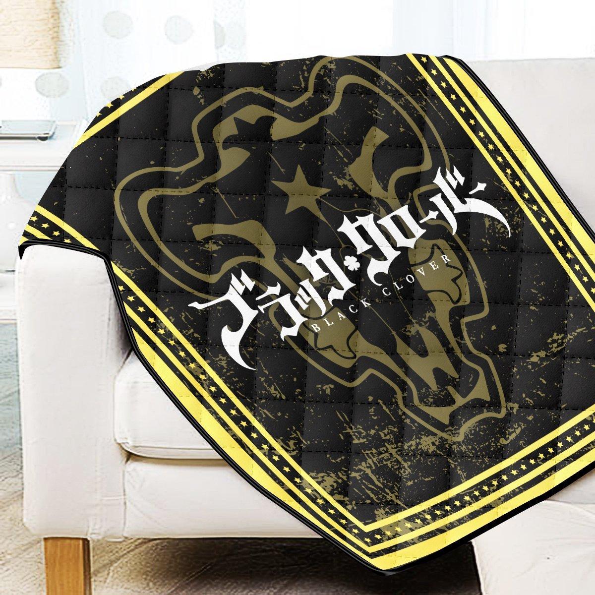 Black Clover Bulls Quilt Blanket Official Merch FDM3009 Twin Official Otaku Treat Merch
