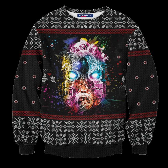 Borderlands Psycho Unisex Wool Sweater FDM0310 S Official Otaku Treat Merch