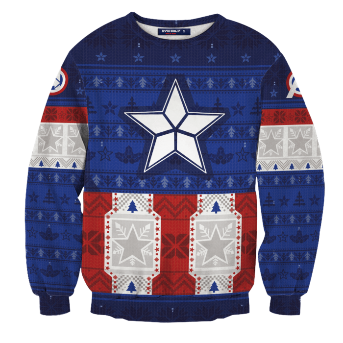 Captain Rogers Unisex Wool Sweater FDM0310 S Official Otaku Treat Merch
