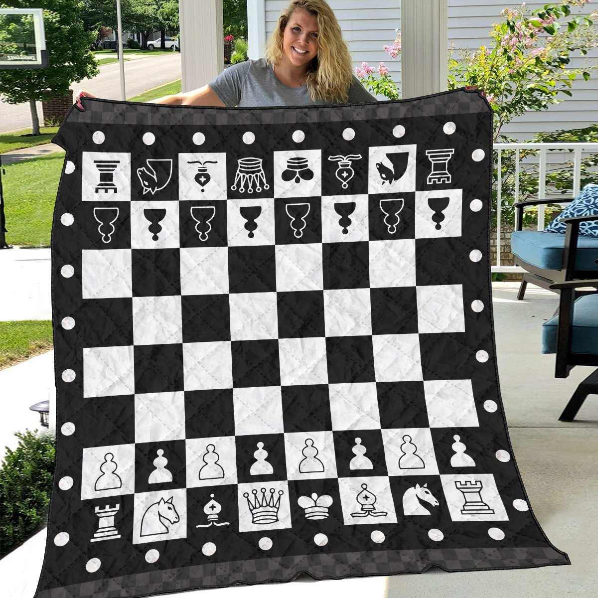 chessboard quilt blanket 235246 - Otaku Treat