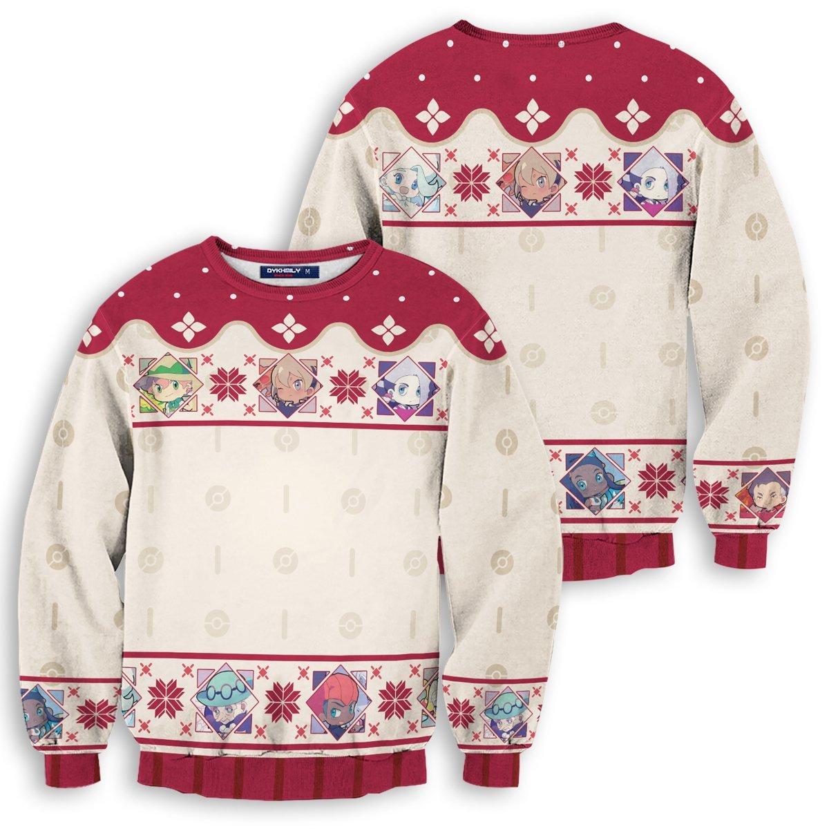 Chibi SS Gym Leaders Unisex Wool Sweater FDM0310 S Official Otaku Treat Merch