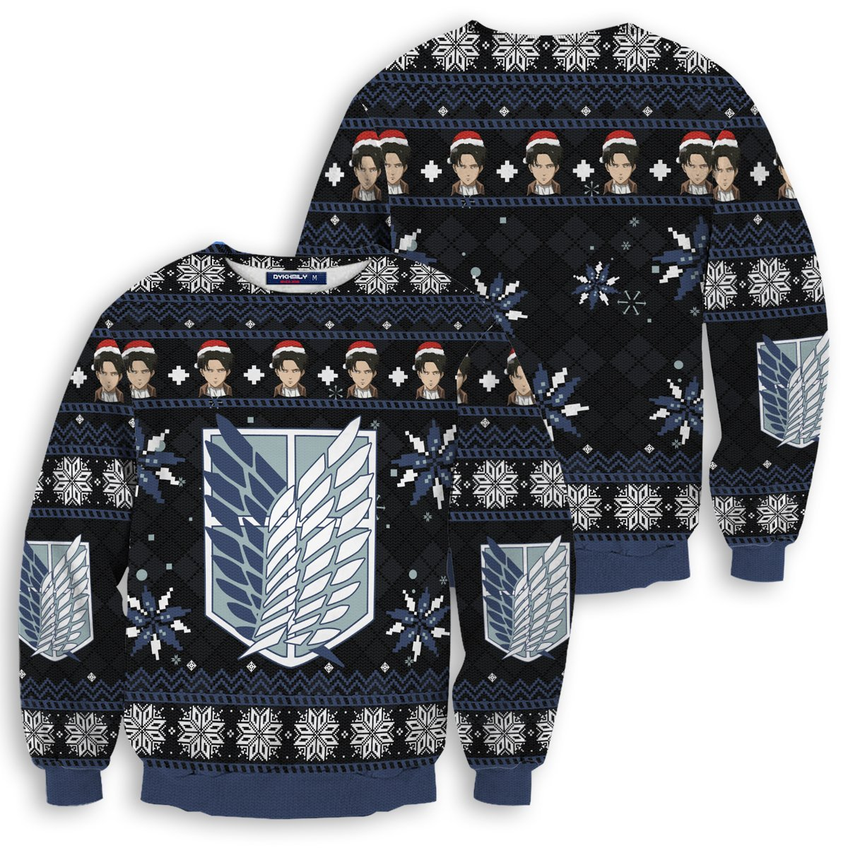 Christmas Capt. Levi Unisex Wool Sweater FDM0310 S Official Otaku Treat Merch