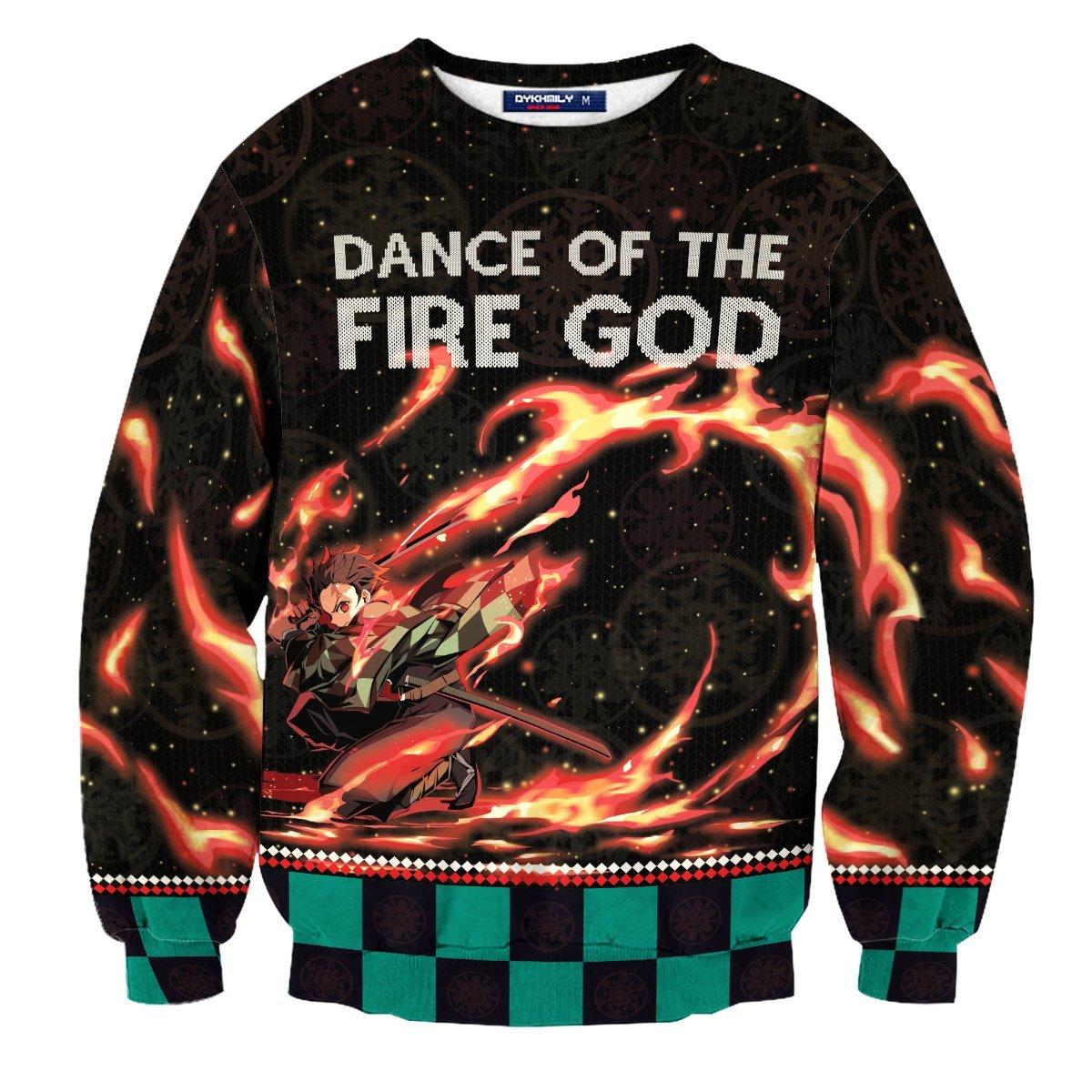 Dance Of The Fire God Unisex Wool Sweater FDM0310 S Official Otaku Treat Merch
