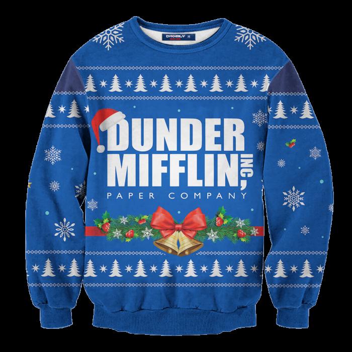 Dunder Mifflin Holiday Unisex Wool Sweater FDM0310 S Official Otaku Treat Merch