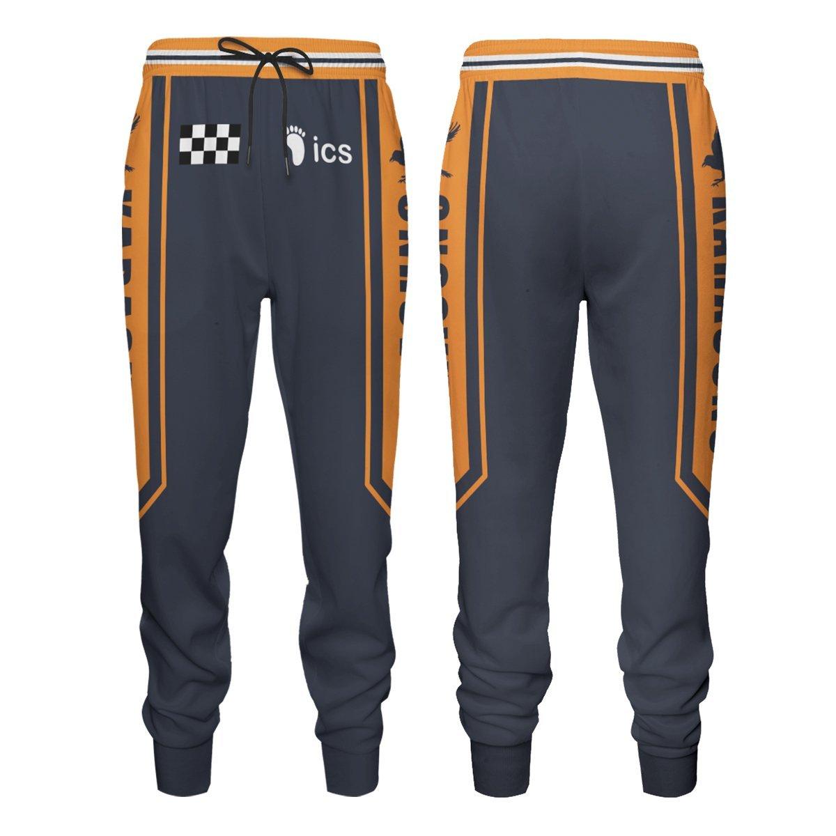 F1 Karasuno Jogger Pants Official Merch FDM3009 S Official Otaku Treat Merch